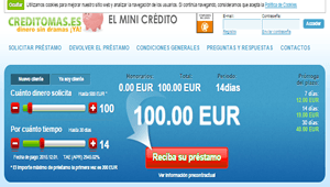 Creditomás: Microcrédito gratis de hasta 200 euros en menos de 10 minutos