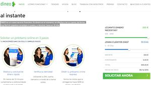Dineo: Minicrédito online hasta 500 euros