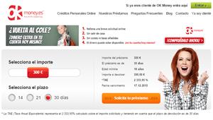 OK Money: Crédito de forma rápido y sencilla de forma online (Gratis hasta los 200 euros)