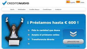 Creditonuevo,Microcréditos rápidos de hasta 600 euros